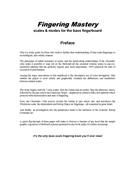 FINGERING MASTERY scales & modes for the bass fingerboard - Preface �2012