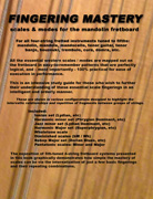 FINGERING MASTERY scales & modes for the mandolin fretboard - Back Cover �2012